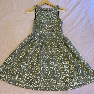 Frenchi Patterned Sleeveless Dress - Size S